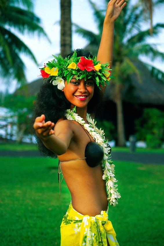 Tahitian dancer, Tahiti, French Polynesia