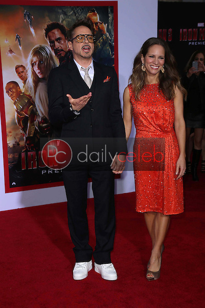 Robert Downey Jr. and wife Susan Downey<br />