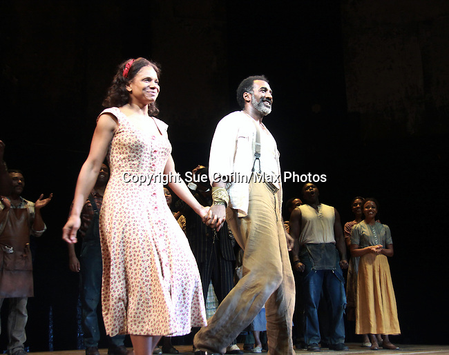 "All My Children Norm Lewis and Audra McDonald star as ""Porgy and Bess"" in The Gershwins' Porgy and Bess on Opening Night - January 12, 1212 at the Richard Rogers Theatre, New York City, New York.  (Photo by Sue Coflin/Max Photos)"