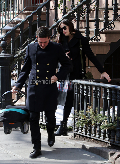 WWW.ACEPIXS.COM<br /> <br /> February 23 2015, New York City<br /> <br /> Liv Tyler and Dave Gardner left her West village brownstone with a baby seat on February 23 2015 in New York City<br /> <br /> By Line: Zelig Shaul/ACE Pictures<br /> <br /> <br /> ACE Pictures, Inc.<br /> tel: 646 769 0430<br /> Email: info@acepixs.com<br /> www.acepixs.com