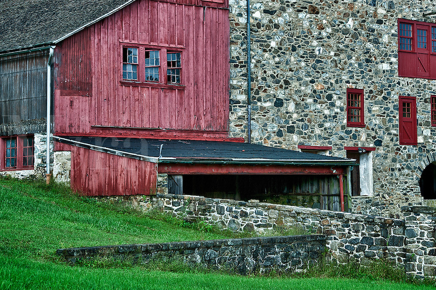 Rural field stone barn, Stroud Preserve, West Chester, Chester County, Pennsylvania