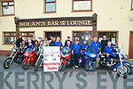 Membersof the North Kerry Eagles pictured at Speedies Bar, Moyvane to announce the holding of their Bike Run to be held in North Kerry on Saturday 1st September starting at Speedies Bar.