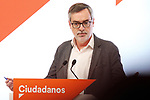 Politician Jose Manuel Villegas during the press conference of Ciudadanos on November 13, 2019 in Madrid, Spain.(ALTERPHOTOS/ItahisaHernandez)