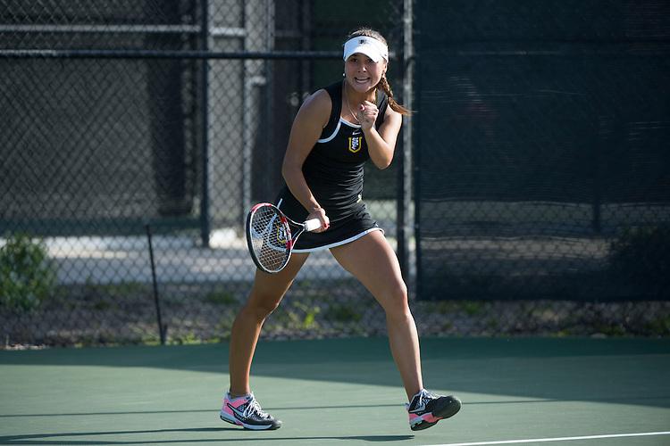 April 23, 2014; San Diego, CA, USA; San Francisco Dons player Marina Nikolic during the WCC Tennis Championships at Barnes Tennis Center.