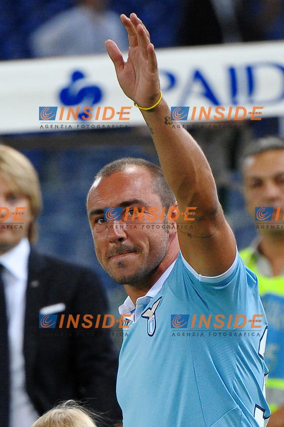 Cristian Brocchi  (Lazio).11/08/2012 Roma.Stadio Olimpico.Football Calcio 2012 / 2013 .Amichevole / Friendly match .Lazio vs Getafe.Foto Insidefoto / Antonietta Baldassarre.