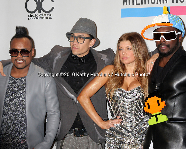 LOS ANGELES - NOV 21:  Black Eyed Peas in the Press Room of the 2010 American Music Awards at Nokia Theater on November 21, 2010 in Los Angeles, CA