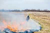 63863-02801 Prescribed Burn by IDNR Prairie Ridge State Natural Area Marion Co. IL