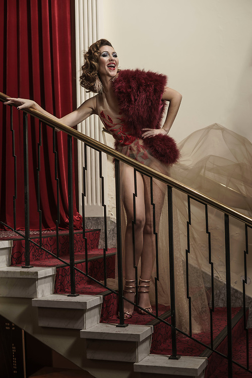 Sunday Mail, Fashion with Mirella Cabaret Festival at Her Magesty's theartre  with Caberet performer Gypsy Wood. Photo: Nick Clayton