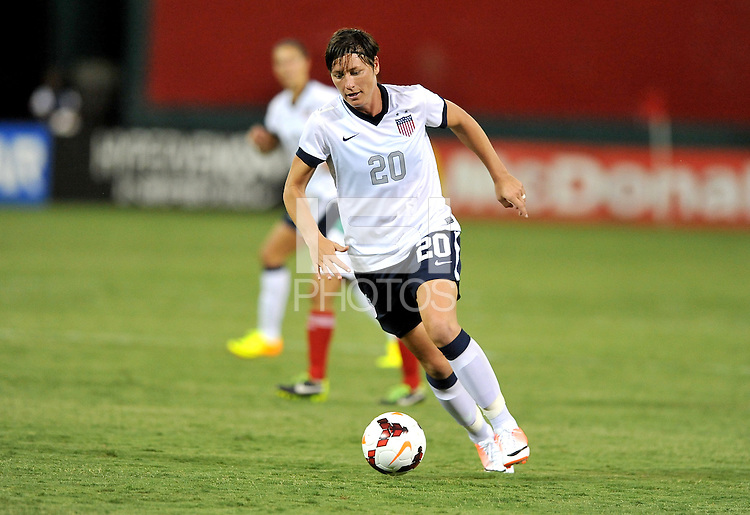Abby Wambach (20) of the USWNT. The USWNT defeated Mexico 7-0 during an international friendly, at RFK Stadium, Tuesday September 3 , 2013.