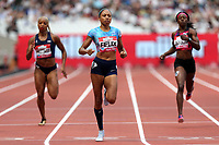 Allyson Felix of USA competes in the womenís 400 metres during the Muller Anniversary Games at The London Stadium on 9th July 2017