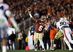 FSU's Heisman quarterback throws a 4th quarter touchdown to Chad Abram in the BCS national title game at the Rose Bowl in Pasadena, California on January 6, 2014.  Florida State Seminoles defeated the Auburn Tigers 34-31.