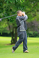 Aaron Grant (Dundalk) on the 3rd tee during round 1 of The Mullingar Scratch Cup in Mullingar Golf Club on Sunday 3rd August 2014.<br /> Picture:  Thos Caffrey / www.golffile.ie