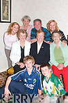 REUNION: Colin Michael Feeney (front right) pictured with his family.and cousins in Moyvane on Thursday night. Front: Brendan Feeney and.Colin Michael Feeney, Philadelphia. Middle l-r: Maureen Nolan, Moyvane,.Breda Moore and Eileen Kennelly, Listowel. Back l-r: Erin Feeney,.Philadelphia, Kathleen White, Listowel, Jeff Feeney and Sheila OSullivan-.Feeney, Philadelphia.