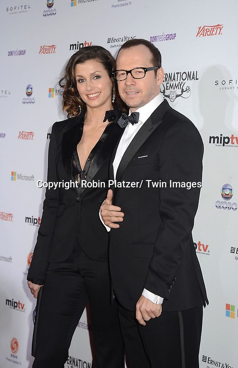 """Bridget Moynahan and Donnie Wahlberg of """" Blue Bloods""""attend the 40th Annual International Emmy Awards .on November 19, 2012 at The Hilton New York in New York City."""