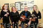 Scor Sinsear Finals: Taking part in the Kerry Senior Scor finals at the Marian Hall, Moyvane on Friday night last were the Keel Ballad Group. L-R: Aisling O'Neill & Julie, Chris & Heather Grey.