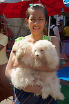 Woman With Two Dogs, Gyee Zai Market