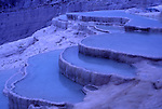 Asia, TUR, Turkey, Aegean, Pamukalle, Hot springs, Limestone terrace, Detail, Twilight, Dusk....[ For each utilisation of my images my General Terms and Conditions are mandatory. Usage only against use message and proof. Download of my General Terms and Conditions under http://www.image-box.com or ask for sending. A clearance before usage is necessary...Material is subject to royalties. Each utilisation of my images is subject to a fee in accordance to the present valid MFM-List...Contact | archive@image-box.com | www.image-box.com ]