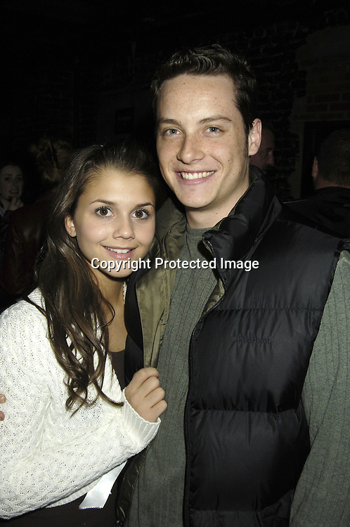 "Alexandra Chando and Jesse Soffer..at a record release party for Martha Byrne's new CD ""The Other Side""  on November 2, 2005 at Soho 323...Photo by Robin Platzer, Twin Images"