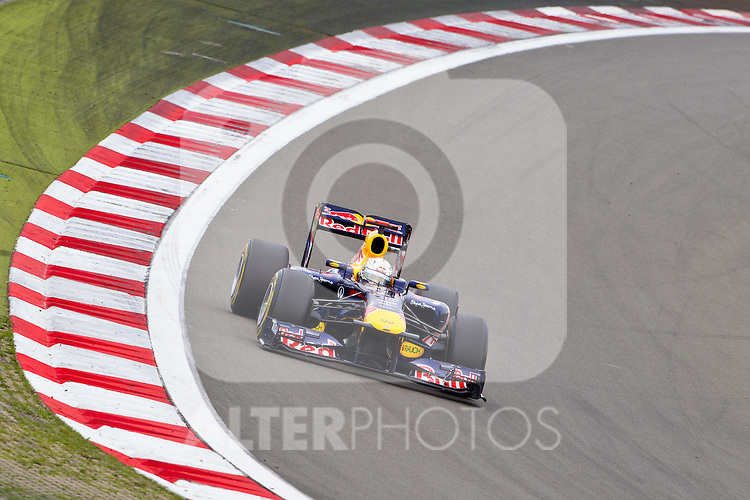 24.07.2011, Nuerburgring, Adenau, GER, F1, Grosser Preis von Deutschland, Nürburgring, Rennen, im Bild Sebastian Vettel (GER), Red Bull Racing-Renault // during race at Formula One Championships 2011 German Grand Prix held at the Nuerburgring, Adenau, Germany, 24/7/2011, EXPA Pictures © 2011, PhotoCredit: EXPA/ J. Groder