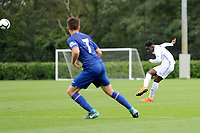 Jayden Reid of Swansea City in action during the Premier League u18 match between Swansea City AFC and Chelsea FC at Landore Training Ground, Wales, UK. Tuesday 11th September 2018