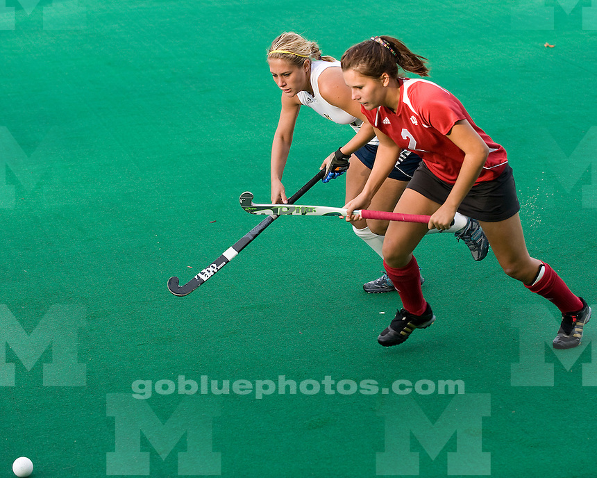 The No. 7 University of Michigan field hockey team beat Indiana, 4-2, to secure the outright Big Ten title at Ocker Field in Ann Arbor, Mich., on October 28, 2011.