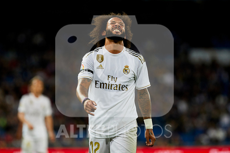 Marcelo Vieira of Real Madrid during La Liga match between Real Madrid and CD Leganes at Santiago Bernabeu Stadium in Madrid, Spain. October 30, 2019. (ALTERPHOTOS/A. Perez Meca)