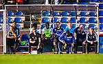 Uppsala 2014-06-26 Fotboll Superettan IK Sirius - IFK V&auml;rnamo :  <br /> V&auml;rnamos tr&auml;nare Peter Johansson &quot;Kuno&quot; och V&auml;rnamos tr&auml;nare J&ouml;rgen Petersson ser fundersamma ut p&aring; IFK V&auml;rnamos avbytarb&auml;nk under matchen<br /> (Foto: Kenta J&ouml;nsson) Nyckelord:  Superettan Sirius IKS Studenternas IFK V&auml;rnamo tr&auml;nare manager coach fundersam fundera t&auml;nka analysera