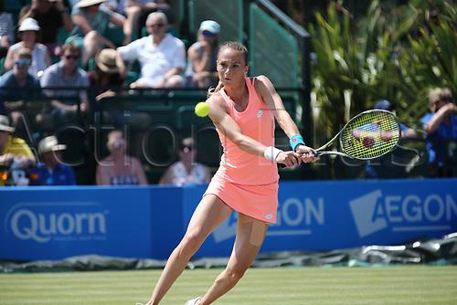 June 17th 2017, Nottingham, England;WTA Aegon Nottingham Open Tennis Tournament day 6;  Backhand return from Magdalena Rybarikova of The Slovak Republic