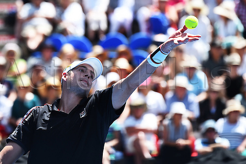 12.01.2017. ASB Tennis Centre, Auckland, New Zealand. ASB Classic Tennis, Day 13. John Isner during the ASB Classic.