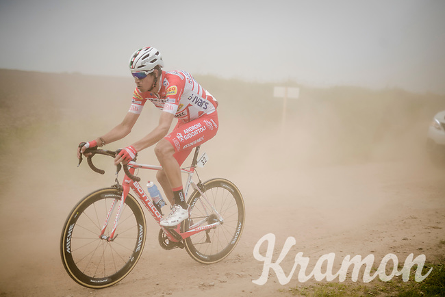 Julián Cardona (COL/Androni Giocattoli - Sidermec) racing over the Breton gravel roads<br /> <br /> 36th TRO BRO LEON 2019 (FRA)<br /> One day race from Plouguerneau to Lannilis (205km)<br /> <br /> ©kramon