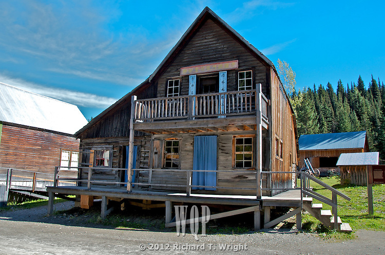 The Chee Kung Tong building, a National Historic Site, in Barkerville , B.C.