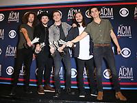 07 April 2019 - Las Vegas, NV - LANCO. 54th Annual ACM Awards Press Room at MGM Grand Garden Arena. Photo Credit: MJT/AdMedia