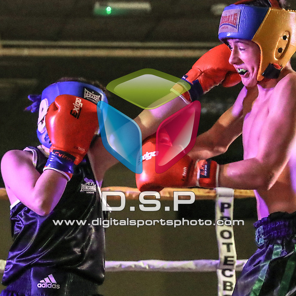 Keelan Geale (Hands of Stone) VS Lewis O'Sullivan (House of Pain) - Boxing 3x2 Mins. During Showtime Striking #1. Photo by: Stephen Smith.<br /> <br /> Saturday 29th October 2016 - The Carrington Hotel, Bournemouth, Dorset, United Kingdom.