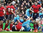 Italy players celebrate as Joshua Furno of Italy goes over in a rolling maul to score their first try - RBS 6Nations 2015 - Scotland  vs Italy - BT Murrayfield Stadium - Edinburgh - Scotland - 28th February 2015 - Picture Simon Bellis/Sportimage