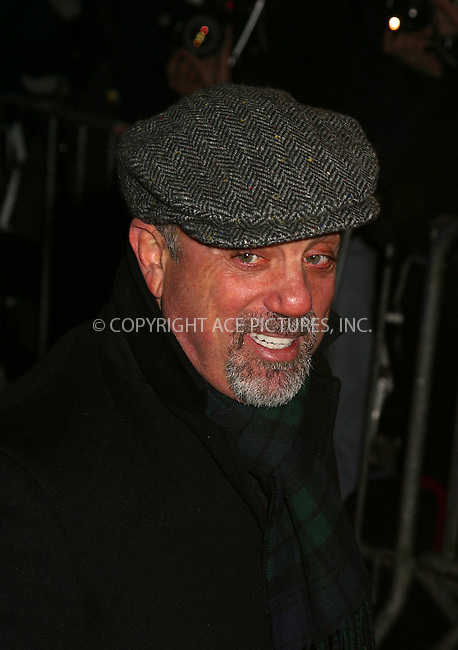 "Billy Joel arrive at the premiere of ""Gangs of New York."" New York, December 9, 2002. Please byline: Alecsey Boldeskul/NY Photo Press.   ..*PAY-PER-USE*      ....NY Photo Press:  ..phone (646) 267-6913;   ..e-mail: info@nyphotopress.com"