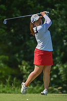 Inbee Park (KOR) watches her tee shot on 17 during round 2 of the 2018 KPMG Women's PGA Championship, Kemper Lakes Golf Club, at Kildeer, Illinois, USA. 6/29/2018.<br /> Picture: Golffile | Ken Murray<br /> <br /> All photo usage must carry mandatory copyright credit (© Golffile | Ken Murray)