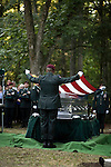 July 3, 2008. Pinetown, NC.. The funeral of Spc. Joel A. Taylor, assigned to the 1st Squadron, 3rd Armored Cavalry Regiment, Fort Hood, Texas; died June 25 in Mosul, Iraq, of wounds sustained when his vehicle encountered an improvised explosive device on June 24, 2008. He was 20.. Members of the honor begin the ceremonial flag folding. The flag from the coffin will be given to Spc. Taylor's father, Scottie A. Taylor. Other flags will be given to his mother, Caren Newman, and his grandparents.