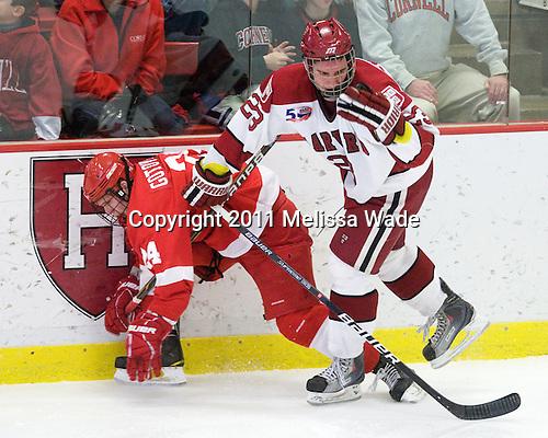 Kirill Gotovets (Cornell - 24), Matt McCollem (Harvard - 23) - The visiting Cornell University Big Red defeated the Harvard University Crimson 2-1 on Saturday, January 29, 2011, at Bright Hockey Center in Cambridge, Massachusetts.