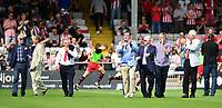 Lincoln City legends parade around the pitch at half time<br /> <br /> Photographer Chris Vaughan/CameraSport<br /> <br /> The EFL Sky Bet League Two - Lincoln City v Swindon Town - Saturday 11th August 2018 - Sincil Bank - Lincoln<br /> <br /> World Copyright &copy; 2018 CameraSport. All rights reserved. 43 Linden Ave. Countesthorpe. Leicester. England. LE8 5PG - Tel: +44 (0) 116 277 4147 - admin@camerasport.com - www.camerasport.com