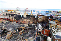 PHOTO BY  &copy;&nbsp;Stephen Daniels 17/08/2007<br /> Fire damage on the Sea front nr Clock tower, Skegness, Lincs