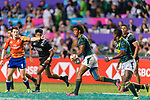 Stedman Gans of South Africa (C) runs with the ball during the HSBC Hong Kong Sevens 2018 Bronze Medal Final match between South Africa and New Zealand on 08 April 2018 in Hong Kong, Hong Kong. Photo by Marcio Rodrigo Machado / Power Sport Images