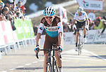 Romain Bardet (FRA) AG2R La Mondiale crosses the finish line at the end of Stage 4 of the Volta Ciclista a Catalunya 2019 running 150.3km from Llanars (Vall De Camprodon) to La Molina (Alp), Spain. 28th March 2019.<br /> Picture: Colin Flockton | Cyclefile<br /> <br /> <br /> All photos usage must carry mandatory copyright credit (© Cyclefile | Colin Flockton)