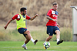 Getafe CF's Chuli (l) and  Alvaro Jimenez during training session. August 1,2017.(ALTERPHOTOS/Acero)