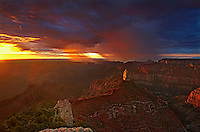 749220319 sunrise storms and heavy cloud cover over mount hayden at point imperial north rim of the grand canyon in arizona united states