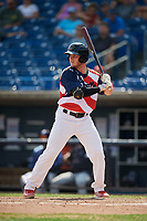 Quad Cities River Bandits right fielder Chandler Taylor (23) at bat during a game against the West Michigan Whitecaps on July 23, 2018 at Modern Woodmen Park in Davenport, Iowa.  Quad Cities defeated West Michigan 7-4.  (Mike Janes/Four Seam Images)