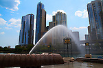 Chicago skyline through the arch