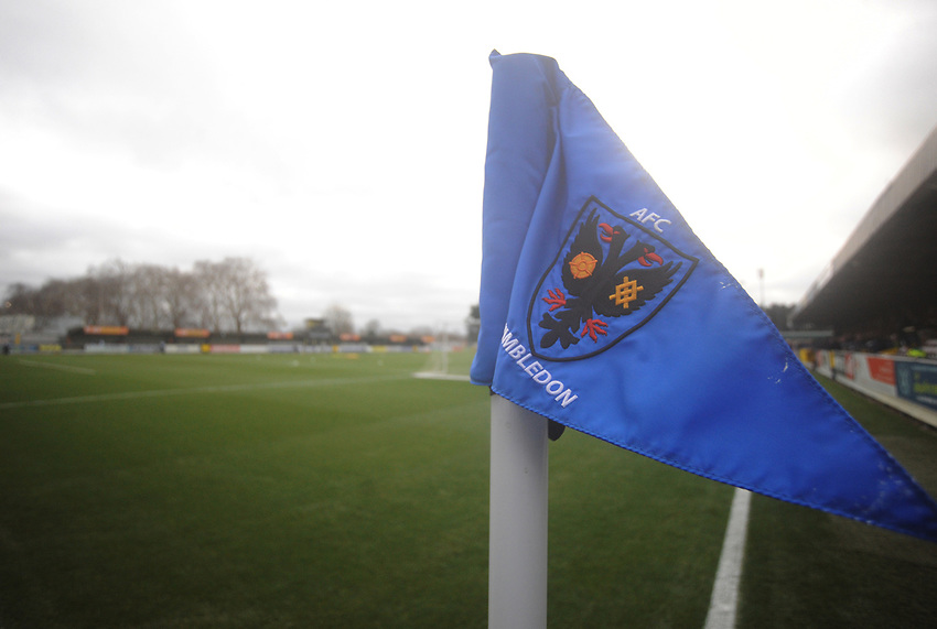 A general view of Kingsmeadow Stadium, home of AFC Wimbledon<br /> <br /> Photographer Kevin Barnes/CameraSport<br /> <br /> The EFL Sky Bet League One - AFC Wimbledon v Blackpool - Saturday 29th December 2018 - Kingsmeadow Stadium - London<br /> <br /> World Copyright © 2018 CameraSport. All rights reserved. 43 Linden Ave. Countesthorpe. Leicester. England. LE8 5PG - Tel: +44 (0) 116 277 4147 - admin@camerasport.com - www.camerasport.com