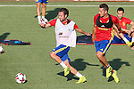 Spanish Juan mata and Koke Resurrecccion  during the first training of the concentration of Spanish football team at Ciudad del Futbol de Las Rozas before the qualifying for the Russia world cup in 2017 August 29, 2016. (ALTERPHOTOS/Rodrigo Jimenez)