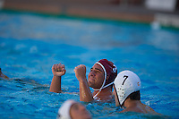 STANFORD, CA - October 9, 2010: Jeffrey Schwimer during a water polo game against USC in Stanford, California. Stanford beat USC 5-3.
