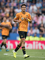 Raúl Jiménez of Wolves during the Premier League match between Leicester City and Wolverhampton Wanderers at the King Power Stadium, Leicester, England on 10 August 2019. Photo by Andy Rowland.